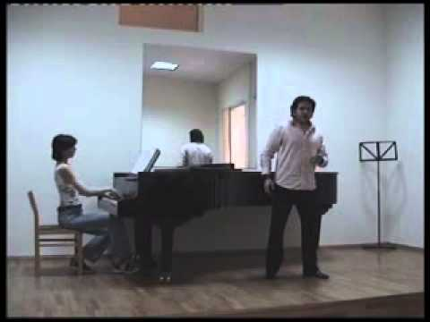 "Masterclass with a lyric tenor:warm ups, coaching ""Una furtiva lagrima"" in Russian with subtitles"