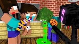 Monster School: BABY HEROBRINE - Minecraft Animation