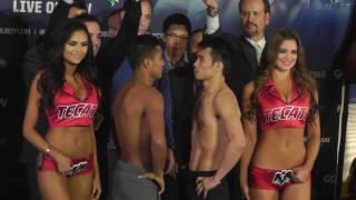 GGG JACOBS FULL WEIGHT IN AND FACEOFF BOTH IN GREAT SHAPE!