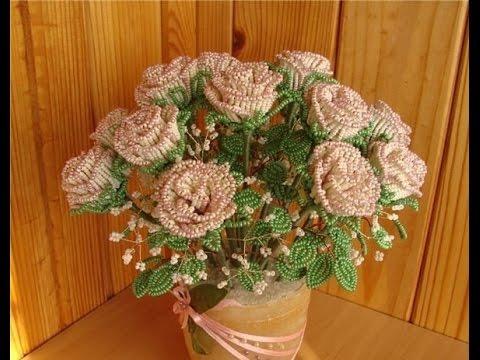 Своими руками цветы с бисера
