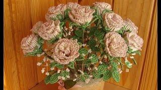 Цветы из Бисера. Как сделать розу из бисера своими руками
