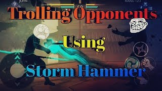 Shadow Fight 3 : Trolling Opponents Using Storm Hammer