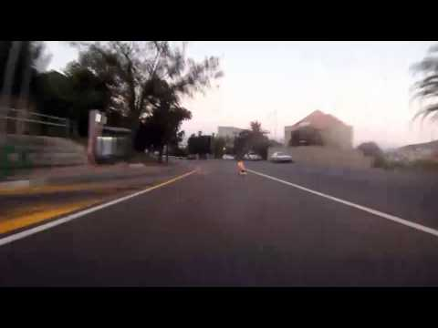 Longboarding (Skateboard) Triggers traffic camera Cape Town South Africa