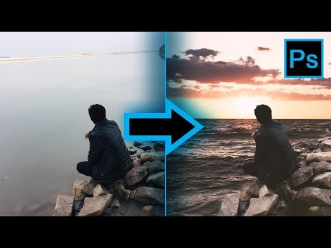 Half Background Changing In Photoshop || Photoshop Creatives ||