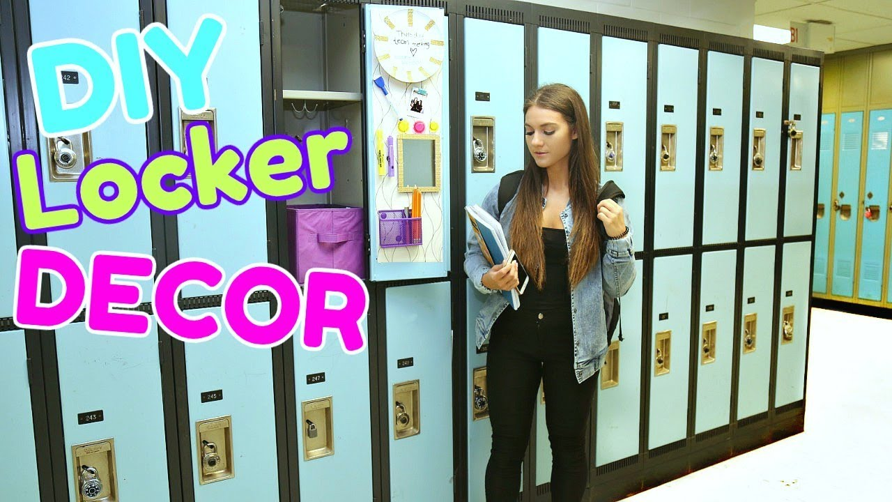 BACK to SCHOOL: LOCKER DECORATIONS + DIY LOCKER DECOR ...