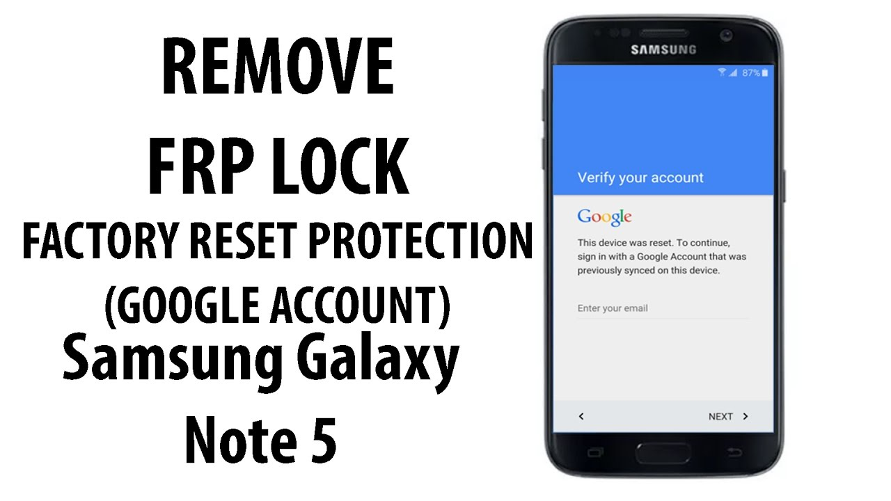 Bypass FRP Google Account Samsung Galaxy Note 5 [Updated]