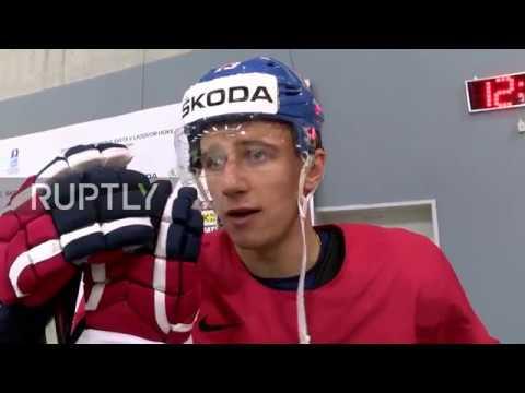 Slovakia: Czech ice hockey team warm up ahead of Canada semi-final