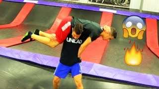 WWE MOVES AT THE TRAMPOLINE PARK 2
