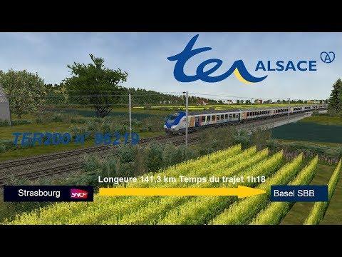 [OR-MSTS] TER 96219 Strasbourg - Basel en B5uxh+6Corail+BB26005 TER200