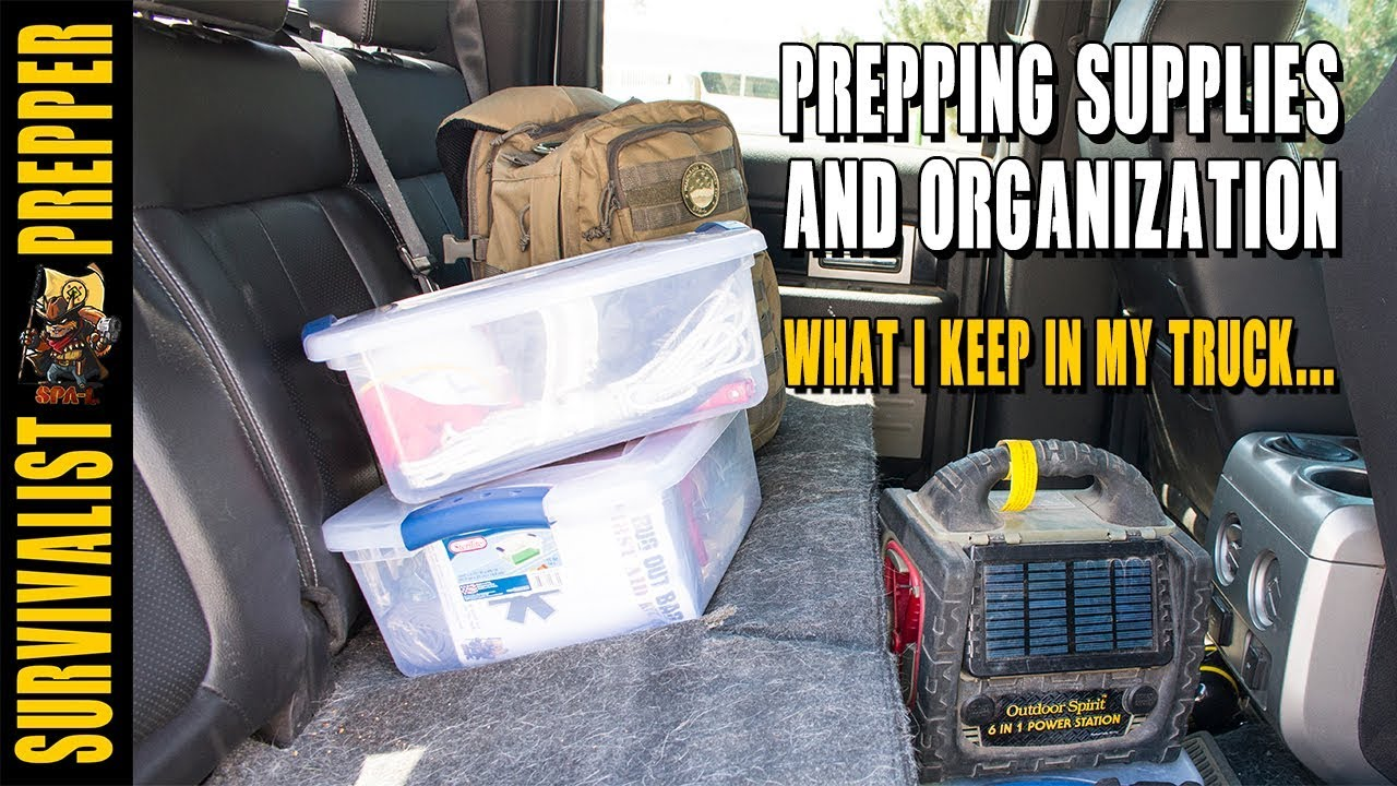 Prepping Supplies and Organization: What I Keep in my Truck
