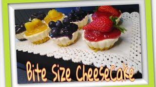 Cheesecake bite size| no bake | mini cheesecake| easy recipe assorted cheesecake |delicious recipe