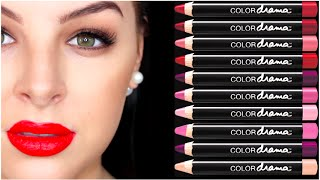 LIP SWATCHES - MAYBELLINE COLOR DRAMA INTENSE VELVET LIP PENCILS