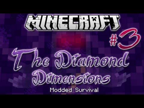 """BURNED ALIVE!""   Diamond Dimensions Modded Survival #3   Minecraft"