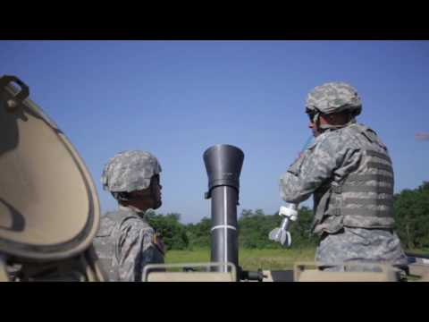 120mm Mortar training with the Pa. National Guard