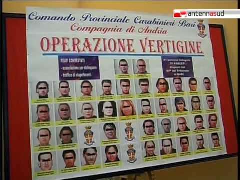 TG 10.06.10 Market della droga, 41 arresti ad Andria