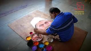 best jayant pentar Art  Rangoli Protret  Highlights 2017 (gaurang studio)
