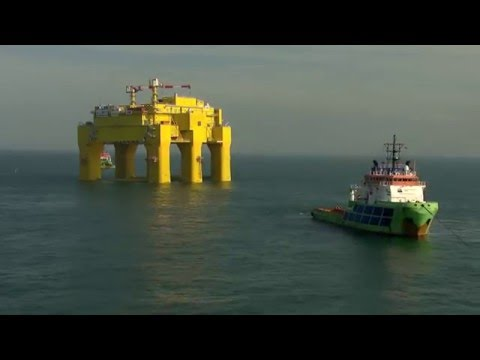 Installation of DolWin Beta Platform in the North Sea - Unravel Travel TV