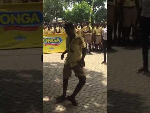 Accra Academy school student dances.
