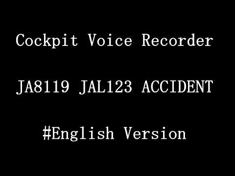 【CVR】JAL123 Cockpit Voice Recorder 【English script】