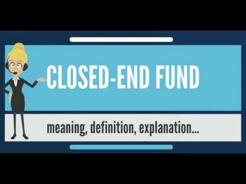 What is CLOSED-END FUND? What does CLOSED-END FUND mean? CLOSED-END FUND meaning & explanation