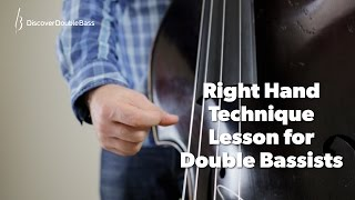Right Hand Technique for Double/Upright Bass Lesson with Geoff Chalmers.