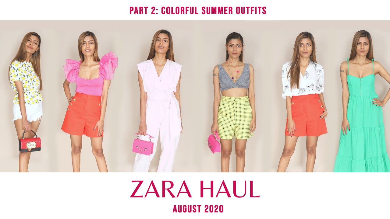 Zara Haul August | Part 2: Colorful Summer Outfits | 2020