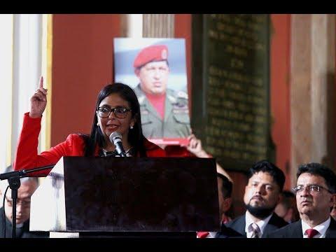 Discurso de Delcy Rodríguez como presidenta de la Asamblea Nacional Constituyente
