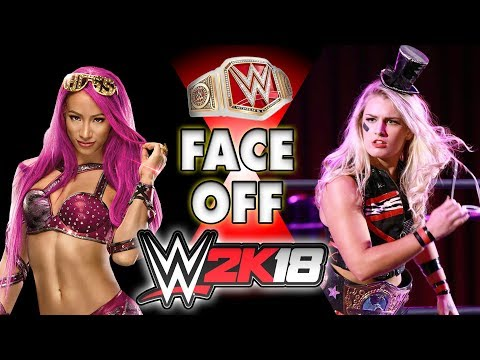 Toni Storm face Sasha banks in WWE 2K18 {CAW Highlight}