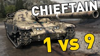 Gambar cover CHIEFTAIN GOES 1 vs 9 in World of Tanks!