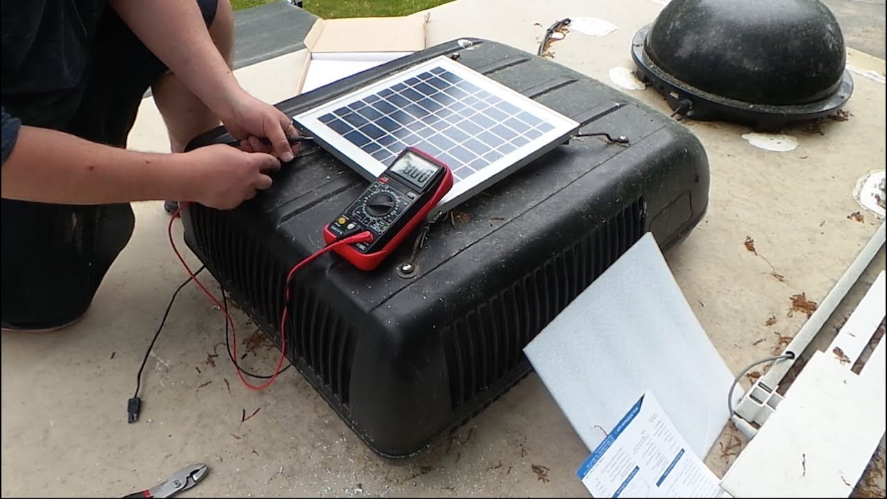 Rv Solar 15w Trickle Charge Solar Panel Installation