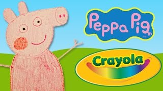 How to draw Peppa Pig with Crayola Crayons