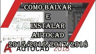 Como baixar e instalar o AutoCAD 2015/2016/2017/2018