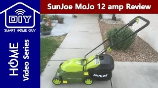 Sun Joe Mow Joe MJ401E Electric Lawn Mower Review with 12 amp Motor no Gas to Cut Grass