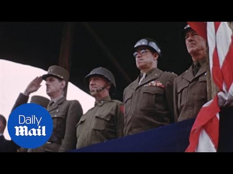 Never-before-seen Colour Footage Shows US Troops On D-Day