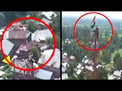 Army Jawan Risks Life To Bring Down Pakistan Flag Hoisted In Kashmir