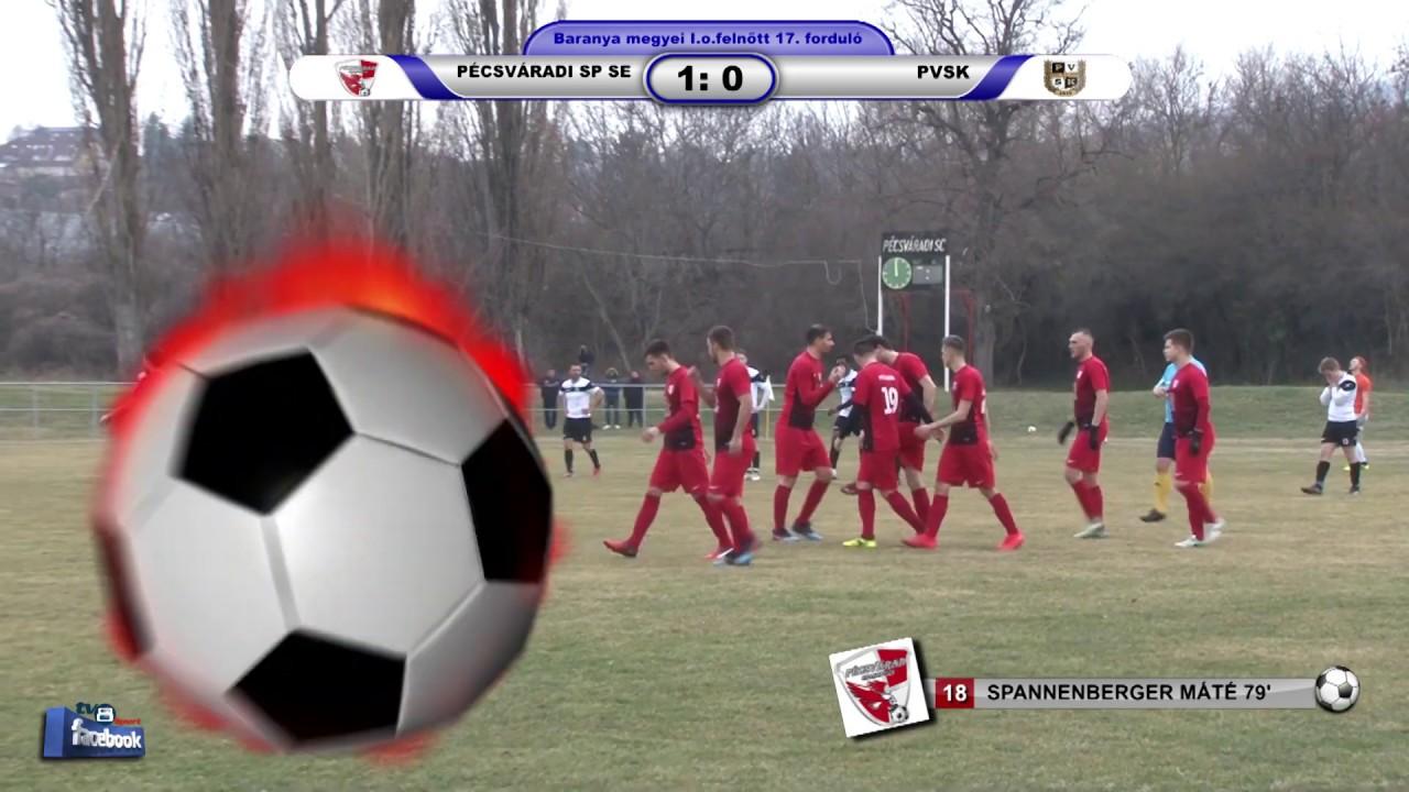 PÉCSVÁRADI SPARTACUS SE - PVSK    1 - 0 (0 - 0)