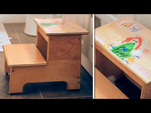 Kid's Step Stool With Their Artwork! | How To Build