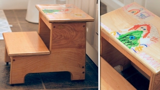 Build Article: https://craftedworkshop.com/kids-step-stool-artwork-build/ In this woodworking project, I