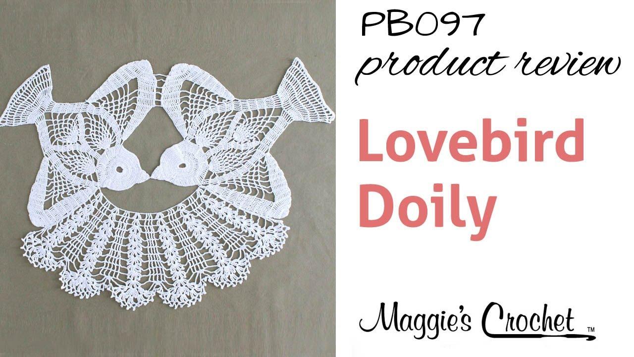 Lovebird Doily Crochet Pattern Product Review PB097 - YouTube