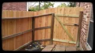Katy Fence Repair Last Project 2013 - Wood Gate Rehabilitated :)