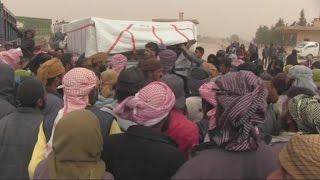أخبار عربية - أخبار الأن ترصد نزوح مدنيين من مناطق احتلال داعش في ريف الرقة