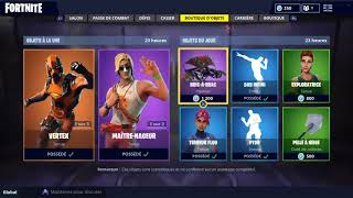 "BOUTIQUE FORTNITE Du 5 Septembre Skin ""VERTEX"" & ""MAITRE-NAGEUR"""