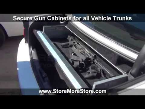 police vehicle gun cabinets trunk rifle storage locker