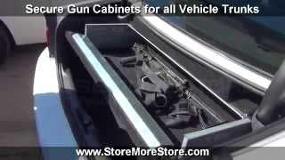 Police Vehicle Gun Cabinets |trunk Rifle Storage Locker | Dodge Chevrolet Ford