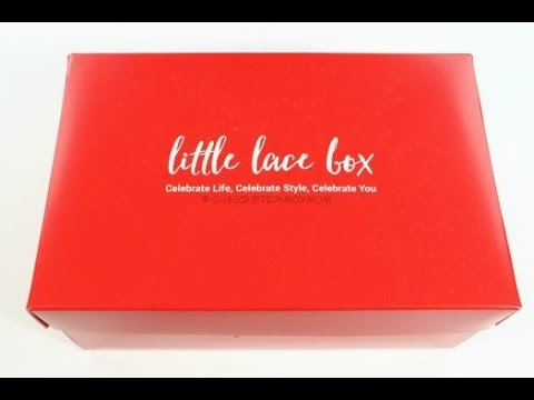 Little Lace Box December 2015 Unboxing + Huge Subscription Sale