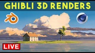 Create Studio Ghibli Art in Cinema4D & Blender (with Peter France)