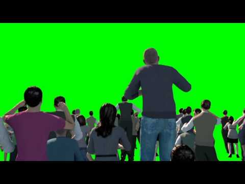 Green Screen Crowd