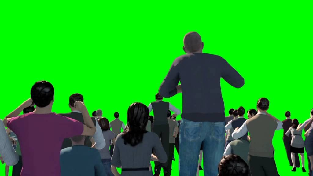 Green Screen Crowd People Cheer Acclaim Concert - Footage ...