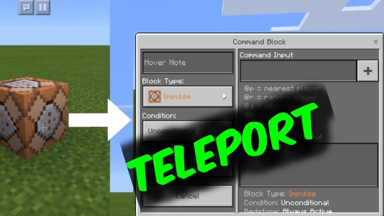 How to teleport using Command Block in Minecraft Bedrock