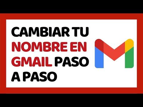 🔴 Cómo Cambiar El Nombre En Gmail 2020